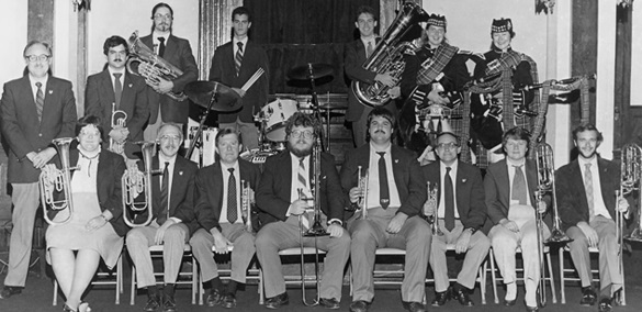 An early photograph of the Smoky Mountain Brass Band