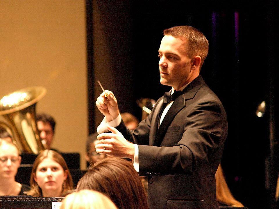 Ryan Summers conducting an ensemble